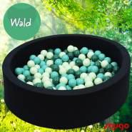 Bio Premium Bällebad WALD in dunkelblau mit 300 Bällen aus Zuckerrohr