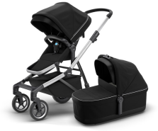Thule - Sleek inkl. Thule Babywanne Aluminium Midnight Black Kollektion 2020