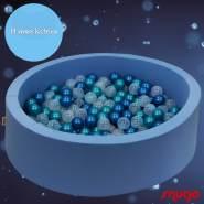Bio Premium Bällebad HIMMELSSTERN in hellblau mit 300 Bällen aus Zuckerrohr