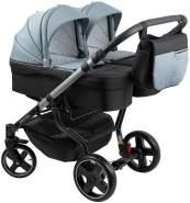 ZEKIWA 'Twins special' Zwillingskinderwagen schwarz/grey inkl. Babywanne und Wickeltasche