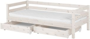 Flexa 'Classic' Einzelbett weiß, 90x190 cm, inkl. 2 Schubladen