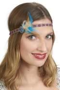 Stirnband mit Federn und Brosche
