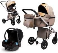 Anex 'e/type' Kombikinderwagen 4plusin1 2020 in Truffle, inkl. Babywanne, Sportsitz, Babyschale