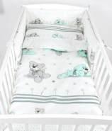 Babylux 'Herzen Minze' Kinderbettwäsche 40x60/100x135 cm