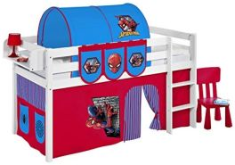 Lilokids 'JELLE' Spielbett inkl. Vorhang 'Spiderman' 90 x 190 cm