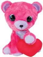 LUMO STARS 55738 Lumo Valentine's Bear Puss-Big-24cm, Multiclore