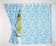 BabyLux 'Dino' Vorhänge mit Schlaufen, blau