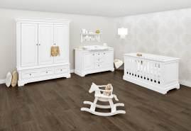 Pinolino 'Emilia' 3-tlg. Babyzimmer-Set weiß, breit, 3-türig