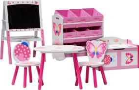 IB Style 'Papillon' 6-tlg. Kindersitzgruppe rosa/weiß