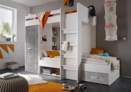 Bega 'Maxi' Funktionsbett weiß/beton