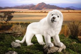 Kösen Löwe, weiß, 48cm
