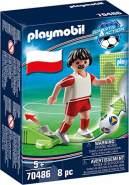 Playmobil Sports & Action 70486 'Nationalspieler Polen', 8 Teile, ab 5 Jahren