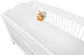 Pinolino Spannbettlaken Jersey 2-er Pack 'Sterne/Uni,weiß/grau,60x120/70x140cm