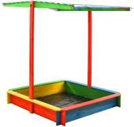 vidaXL Sandkasten mit Verstellbarem Dach Tannenholz Bunt UV50