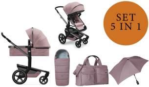 Joolz 'Day+' Kombikinderwagen 2 in 1 Premium Pink inkl. Babywanne, Fußsack, Wickeltasche und Sonnenschirm