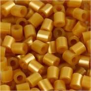 Nabbi Fuse Beads, Größe 5x5 mm, Lochgröße 2,5 mm, Gold, Medium, 1100 Stück