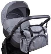 BabyLux Wickeltasche Kinderwagentasche Pflegetasche S3 55. Grau dunkel