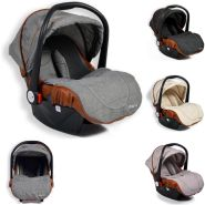 Moni Kindersitz Babyschale Alma Gruppe 0+ (0 - 13 kg) Adapter, Fußabdeckung Dach dunkelgrau