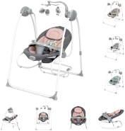 Lorelli Babywippe elektrisch Tango 2 in 1, Fernbedienung, MP3, Timer, Mobile pink