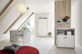 Schardt 'Classic Grey' 3-tlg. Babyzimmer-Set Schrank 2-türig