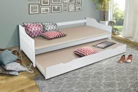 Parisot Einzelbett weiß, 90 x 200 cm, inkl. Bettkastenschublade