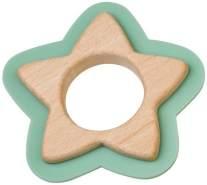 Saro Beißspielzeug Stern Holz und Silikon 10 cm mintgrün