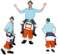 Huckepack Kostüm - Mann auf Tiroler - Wilbers Gr. M/L - Hucke Pack Bayern