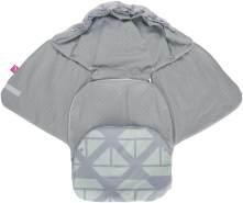 MOTHERHOOD Baby Softshell Einschlagdecke für Babyschale, Autositz, Maxi-Cosi, Römer und andere Marken, ideal für Kinderwagen, Fahrradanhänger, Buggy, Schiffe mitgrün