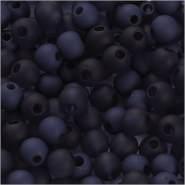 Kunststoffperlen, D: 6 mm, Lochgröße 2 mm, Blau, 40g, ca. 150 Stück