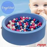 Bio Premium Bällebad ENGELSBAD in hellblau mit 300 Bällen aus Zuckerrohr