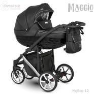 Camarelo Maggio Kombikinderwagen MgEco-12 schwarz/Silber (Eco)