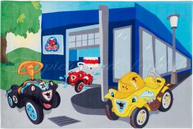 Böing Carpet 'Big Bobby Car - Carwash' Kinderteppich blau 110x170 cm