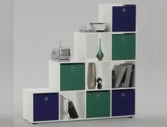 FMD Möbel 'MEGA 2' weiß inkl. 6 Körbe