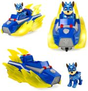 PAW PATROL 6056840 Chase's Vehicle with Lights and Sounds Mighty Pups Charged Up Chase Deluxe Fahrzeug mit Lichtern und Geräuschen, Mehrfarbig