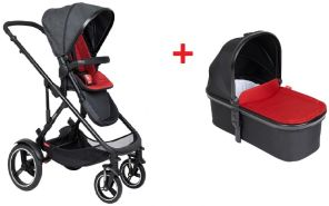 Phil & Teds Buggy 'Voyager' Chilli inkl. Babywanne