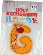 Besttoy Holzbuchstabe 'G' orange