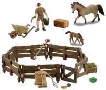 Besttoy - Pferdekoppel - Spielfigurenset