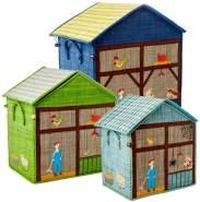 Rice Spielzeugkorb-Set Bauernhof