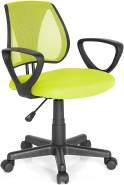 hjh OFFICE 725108 Kinder- und Jugenddrehstuhl KIDDY CD Netzstoff Grün höhenverstellbarer Schreibtischstuhl mit Armlehnen