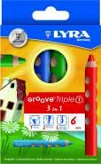 LYRA Groove Triple I Kartonetui mit 6 Farbstiften Sortiert