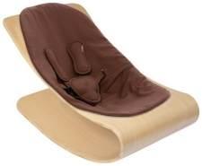Bloom Coco Stylewood Babywippe + Sitzeinlage Frame Natural Kissen Hennabrown Organic