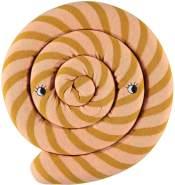 OYOY Zauberhaftes Strickkissen, Lollipop, in caramel, 30 cm Durchmesser