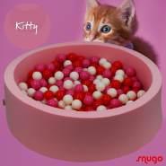 Bio Premium Bällebad KITTY in rosa mit 300 Bällen aus Zuckerrohr