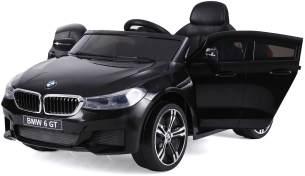 BMW 6GT Kinder Elektro Auto 2x25W 12V 4Ah 2. 4G RC GT6 Schwarz
