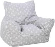Knorrtoys 'Anker Maritim' Kindersitzsack grau