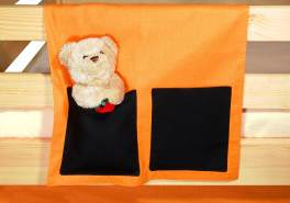 Betttasche orange/schwarz