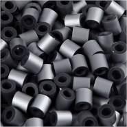 Nabbi Fuse Beads, Größe 5x5 mm, Lochgröße 2,5 mm, Silber, Medium, 1100 Stück