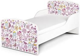 Leomark Kinderbett 70x140 cm, Rosa, mit Matratze und Lattenrost