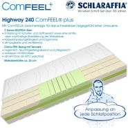 Schlaraffia 'Highway 240 ComFEEL' 7-Zonen Kaltschaum-Matratze H3, 140 x 200 cm