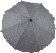 Clamaro Kinderwagen Sonnenschirm Regenschirm für Kinderwagen und Sport Buggy mit Universal Halterung 7 leinen-grau